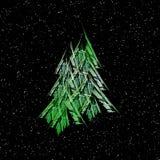 Christmas trees illustration Royalty Free Stock Photo