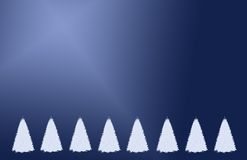 Christmas trees illustration Royalty Free Stock Photo