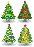 Christmas trees. Illustration of the christmas trees on a white background Stock Photography