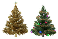 Christmas Trees isolated Stock Images