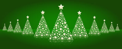 Christmas trees line  Royalty Free Stock Photos