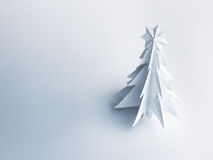Christmas trees made of paper on white background. Royalty Free Stock Photography