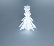Christmas trees made of paper on white background. Royalty Free Stock Photos