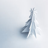 Christmas trees made of paper on white background. Royalty Free Stock Images