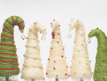 Christmas trees made of sisal Stock Image