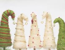 Christmas trees made of sisal Stock Image