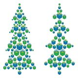 Christmas trees made up of gift boxes Royalty Free Stock Image
