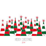 Christmas trees. Merry Christmas  background Royalty Free Stock Image
