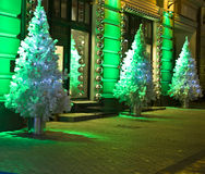 Christmas trees, Moscow Stock Images