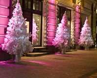 Christmas trees, Moscow Royalty Free Stock Image
