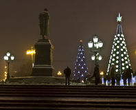 Christmas trees, Moscow Royalty Free Stock Photography