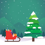 Christmas trees at night design art Stock Photos