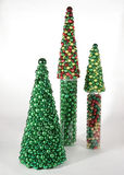 Christmas Trees of Ornaments Royalty Free Stock Photography