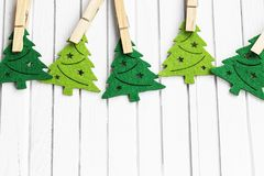 Christmas trees ornaments Stock Image