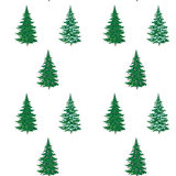 Christmas trees, painting, seamless Stock Photos