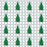 Christmas trees, painting, seamless Stock Photography