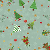 Christmas trees pattern Stock Photos