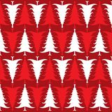 Christmas trees pattern Stock Images
