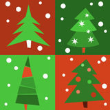 Christmas trees - pattern. Pattern of Christmas trees, vector file Stock Photos