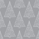 Christmas trees pattern. Abstract Xmas seamless background. Winter holidays vector texture for wallpaper, wrapping paper. Christmas trees pattern. Abstract Xmas Stock Photos