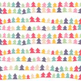 Christmas trees pattern. Seamless cute pattern with color christmas trees. Vector illustration Stock Photography