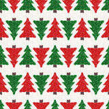 Christmas trees pattern Royalty Free Stock Image