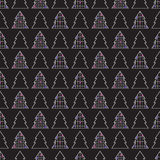 Christmas trees pattern Royalty Free Stock Photography