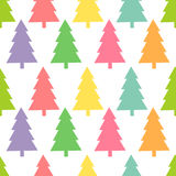 Christmas trees pattern. Royalty Free Stock Photo