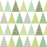 Christmas trees pattern. Vector seamless pattern of christmas trees. Editable eps file available for single element usage Stock Images