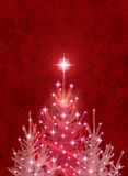 Christmas Trees on Red Royalty Free Stock Images