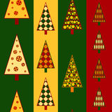 Christmas trees seamless Royalty Free Stock Photos