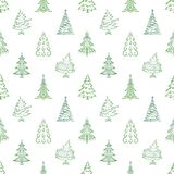 Christmas trees, seamless Royalty Free Stock Image
