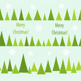 Christmas trees seamless Stock Photo