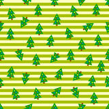 Christmas trees seamless background Stock Images