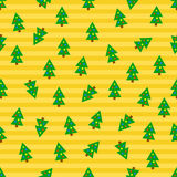 Christmas trees seamless background Stock Image