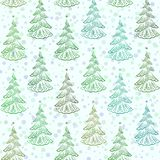 Christmas Trees, Seamless. Christmas Seamless Background with Holiday Fir Trees, Winter Symbolic Tile Pattern for Your Design. Vector Royalty Free Stock Image