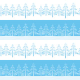 Christmas Trees, Seamless. Christmas Horizontal Seamless Background, Landscape with Fir Trees, Winter Holiday Illustration. Vector Royalty Free Stock Photos