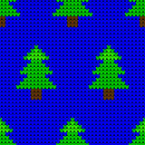 Christmas trees seamless knitting pattern Royalty Free Stock Photography