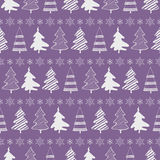 Christmas trees seamless pattern Stock Photos