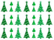 Christmas trees seamless pattern background Stock Photos