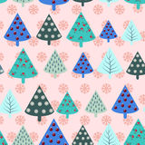 Christmas trees  seamless pattern Royalty Free Stock Photo