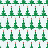 Christmas trees seamless pattern. Seamless pattern of Christmas trees with stars on bluish background. EPS 8 vector illustration, no transparency Stock Images