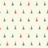 Christmas trees seamless pattern Stock Photo