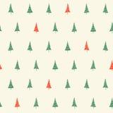 Christmas trees seamless pattern Stock Photo