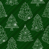 Christmas trees seamless pattern Royalty Free Stock Photography