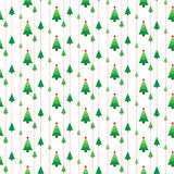 Christmas trees seamless pattern vector Stock Photo