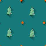 Christmas trees seamless pattern Stock Image
