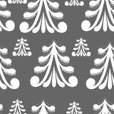 Christmas trees Seamless Pattern Stock Photography