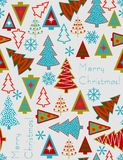 Christmas trees - seamless vector pattern Stock Photos