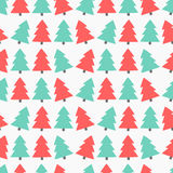 Christmas trees seamless vector Stock Photo